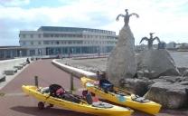 Kayak Plaice fishing in Morecambe
